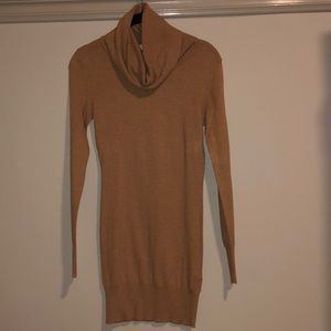 Ribbed Cowl Neck Lightweight Sweater